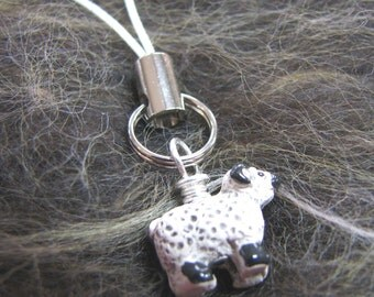 Sheep Cell Phone Charm