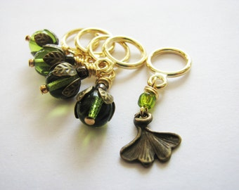 The Enchanted Ginkgo - Non-Snag Stitch Markers
