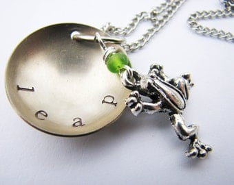 Celebrate A Big Leap With This Handstamped Necklace