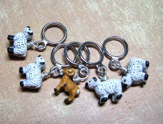 Tiny Sheep Stitch Markers