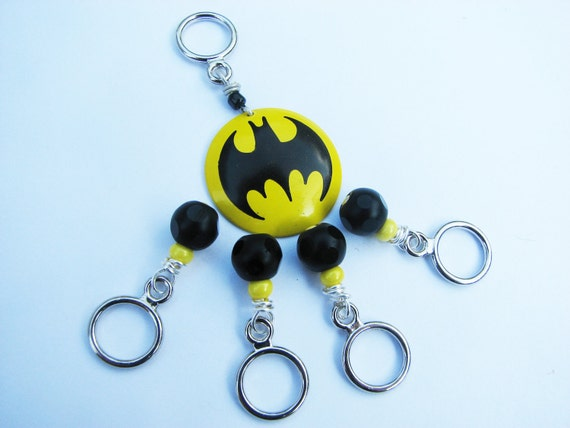 Batman Non-Snag Stitch Markers