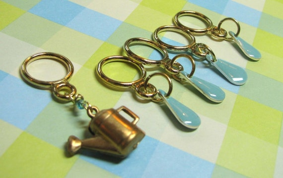 Summer Showers Stitch Markers
