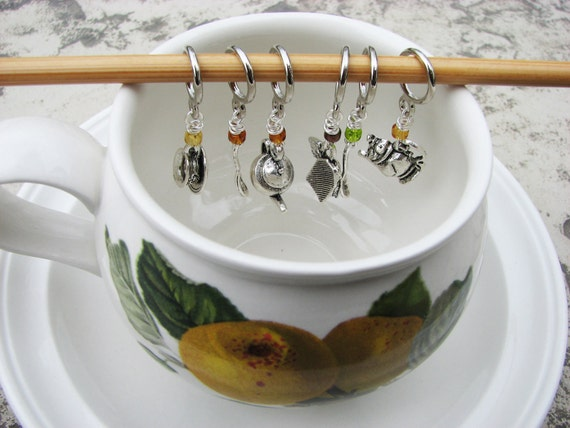 Tea Party Non-Snag Stitch Markers
