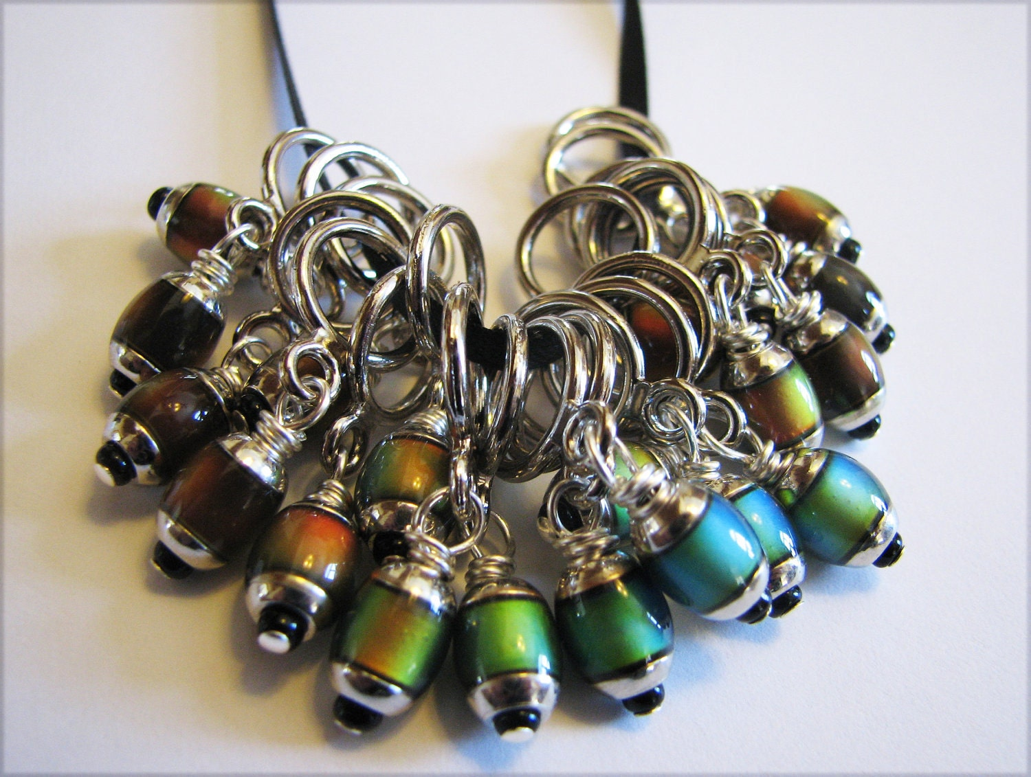 Knitting Markers Beads : Mood bead non snag stitch markers with mm mirage beads