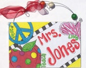Hand personalized teacher classroom sign