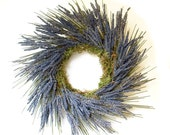 Luxurious Lavender Swirl dried flower wreath