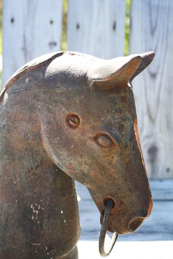 Heavy Duty Horse Head Hitching Post