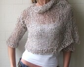 Cropped oatmeal tweed cardigan 1-2 left in this shade
