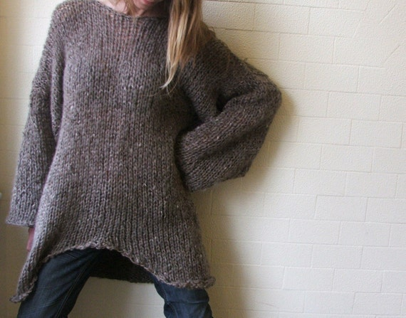 iLE AiYE Exclusive range - Big Soft Comfy Brown sweater LAST ONE