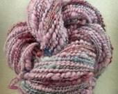 Easter Eggs - Handspun Yarn in Pink/Blue - 74g (2.6oz) 79m (86yd)