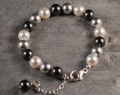 Swarovski crystal pearls and sterling silver - Peerli Bracelet