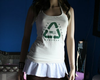 Reduce Reuse Recycle diy halter top recycled Small