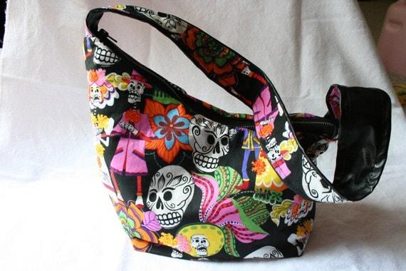 Day of the Dead Hellcat Hobo bag purse Día de los Muertos