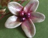 Pink Petals Flower Pin