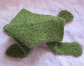 Knitted Origami Frog Pattern