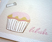 Cupcake Sprinkles Personalized Stationery and Stickers Gift Set
