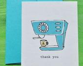 Coffee Cappuccino Single Thank You Card