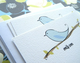 Bird on a Branch Personalized Stationery Gift Set