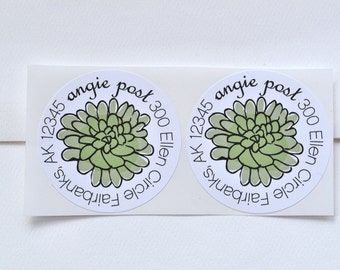 Succulent Personalized Address Labels