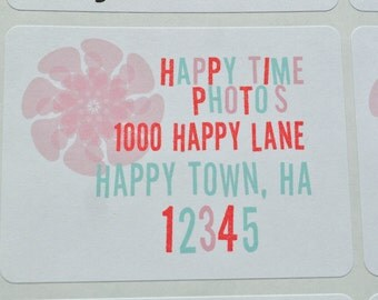 Return Address Labels Happy Flower