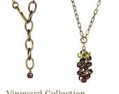 Garnet Grape Cluster Necklace