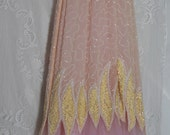 Reserved for Karen G. only Pink beaded dress  sequin wedding  nude  cream  fairytale  romantic medium   by vintage opulence on Etsy