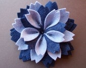 Winter Frost Flower -  felt brooch