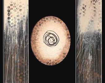 Triptych Original Modern Abstract Art - Modern Art by Molly
