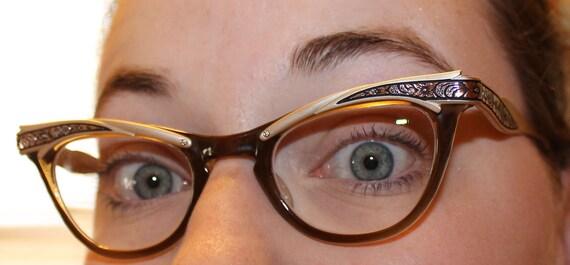 Vintage Cat Eye Glasses W Prescription Lenses