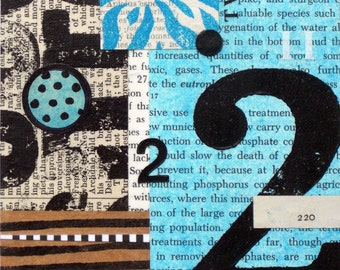 Original Mixed Media Abstract Collage by Kim Hambric  - The Power of 2 I