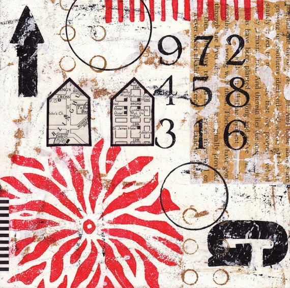 Original Mixed Media Abstract Collage - Optimistic