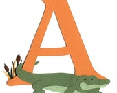 SAMPLE SALE - A is for Alligator Nursery Wall Art