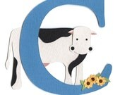 SAMPLE SALE - C is for Cow Nursery Wall Art