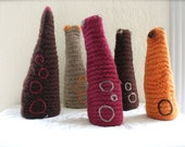 Sculpture - Abstract Forms in Chocolate, Raspberry, Orange