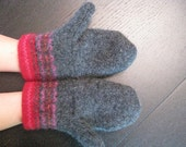 Felted children's mittens