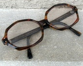 Vintage Geometric Tortoiseshell Horn Rimmed Frames Glasses by American Optical
