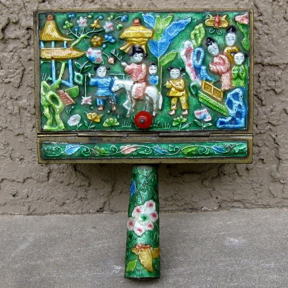 Antique Enameled Silent Butler from China - SALE