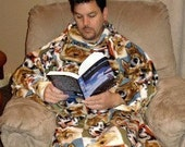 Sew Ez PDF Sewing Instructions Pattern To Make ADULT SIZE Snuggly Fleece Blankets With Sleeves
