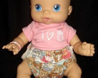 Sew Ez PDF Sewing Instructions Patterns To Make Small AND Large (2 patterns) Cloth Doll Diapers (For Cabbage Patch, Baby Alive, Etc.)