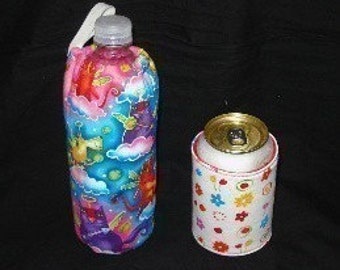 Sew Ez PDF Sewing Instructions Pattern To Make Water/Soda/Beer Bottle AND Can Covers