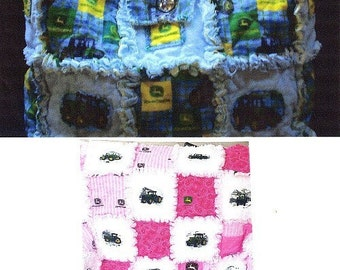 Sew Ez PDF Sewing Instructions Pattern To Make Rag Quilt Blankets AND Rag Tote/ Diaper Bags