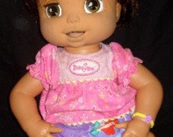 Sew Ez PDF Sewing Instructions Pattern To Make LARGE Size Cloth Doll Diapers (For Cabbage Patch, Baby Alive, Zapf  Chou Chou, Etc.)