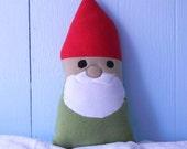 fleece plush gnome pillow