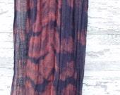 Mulberry Blues Linen Cotton Scarf