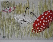 parasols in a field- RESERVED FOR NADIA
