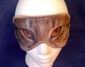 Sleep Mask FREAK Them Out Gray Cat Eyes Blindfold