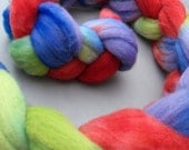 Hand Dyed Wool Roving (Targhee) for fiber crafting - Wakarusa (3.5oz)