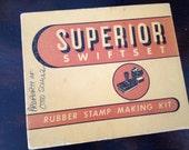 Vintage Rubber Stamp Making Set - Superior Swiftset
