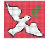 Christmas Dove in Cross Stitch - Graph or PatternMaker .pat File - PIF