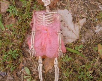 Pretty in Pink Skeleton Girl